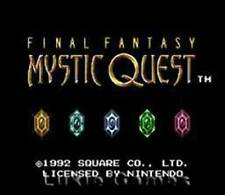 Final Fantasy Mystic Quest - SNES Super Nintendo Game