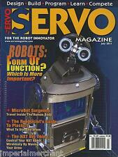 Servo magazine Robots Microbots surgeons Platics guide NXT Design and build