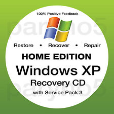 WINDOWS XP HOME SP3 Recovery 32 Install Reinstall Boot Restore CD Disc Disk