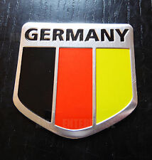 German Germany Tricolour Flag Chrome Effect Sticker Badge for Cars Quads Campers