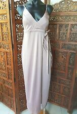 NWTS Mooloola Cotton Blend Clove  Wrap Maxi Dress Size 12