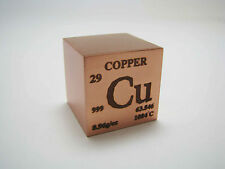 1 inch 25.4 mm Pure Copper metal element cube periodic table 99.9% pure 145 g