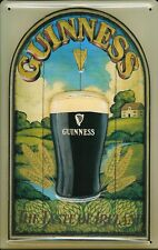 GUINNESS TASTE OF IRELAND Vintage Metal Pub Sign | 3D Embossed Steel | Home Bar