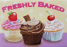 Freshly Baked Cupcakes Cake Shop Tea Room Cafe Kitchen Novelty Fridge Magnet