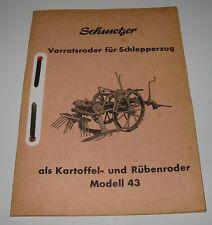 Ersatzteilliste Schmotzer Vorratsroder für Schlepperzug als Kartoffel Rübenroder