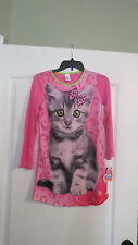 Kitty Cat Pajamas Gown long sleeves  flame resistant size 10/12  NWT