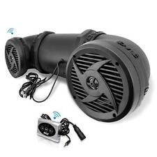 NEW Pyle PLATV550BT 500W ATV/UTV/Snowmobile Bluetooth Powered Marine Speaker