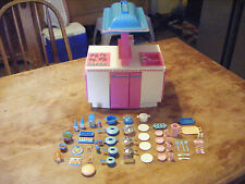 Vintage Barbie Kitchen Combo Stove Oven Sink Fridge Table TONS of Accessories