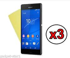3x HQ CRYSTAL CLEAR SCREEN PROTECTOR COVER GUARD FILM FOR SONY XPERIA Z3