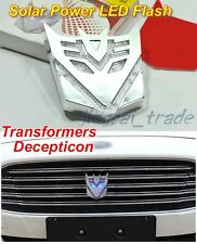 Transformer Solar Power LED Flash Strobe Light Emblem Badge decepticon car motor