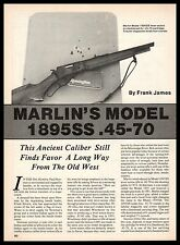 1991 MARLIN Model 1895SS.45/70 Lever-action Rifle 3-page Article
