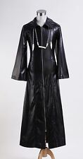 Organization XIII Kingdom Hearts 2 Trench Coat Leather Long Suit Cosplay Costume