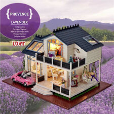 DIY Miniature Dollhouse HOUSE MODEL Kit With Light and Music With Furniture Top