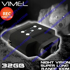 Night Vision Binocular 32GB Monocular Game Camera Recorder Goggles Digital NV