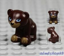 LEGO - 1x Bear Cub Dark Brown Farm Animals Baby Zoo Toy Minifigure