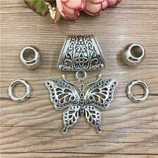 Hot Butterfly Fashion DIY Necklace Jewelry Scarf Flower pendant set Charms