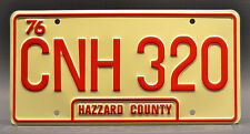 Dukes of Hazzard / General Lee / CNH 320 *STAMPED* Prop Replica License Plate