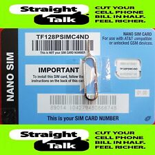 Straight Talk AT&T Nano SIM Card Bring Your Own Phone Activation Kit BYOP Iphone