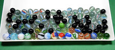 Marbles Some Vintage Lot of 96 Black White Blue Green Swirls   MB01