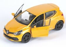 BLITZ VERSAND Renault Clio RS gelb / yellow 1:34-39 Welly Modell Auto NEU & OVP