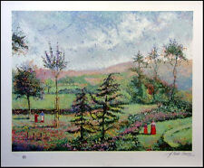 "Pissarro, Claude ""Garden of Yves Saint Laurent"" Signed Artwork Serigraph L@@K!"