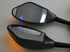 Carbon Mirrors With LED Turn Signal Light For SUZUKI GSXR 600 750 100 1300