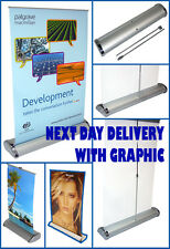 NEXT DAY DELIVERY A4 DESKTOP ROLLER BANNER EXHIBITION STAND INC PRINTED GRAPHIC