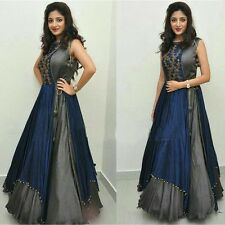 Designer Bollywood Suits – Blue Party Wear Semi-Stitched Anarkali Suit