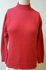 B Altman Red Mock Neck 100% Cashmere L/S Sweater Size XS/S Made in Scotland VTG