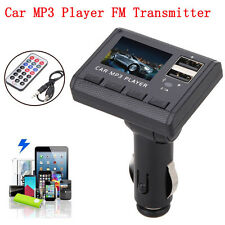 Car Music MP3 Player FM Transmitter Modulator Dual USB Charging SD MMC Remote