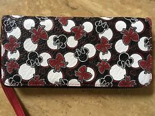 DISNEY NWT MINNIE Mouse Red and Black Beyond The Dots Wristlet Clutch Wallet