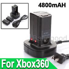 Chargeur Station d'Accueil Dock + 2 Batterie Rechargeable Pour Manette Xbox 360