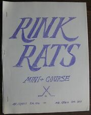 Rink Rats Mini-Course (low-budget publication with hockey team addresses) 1974
