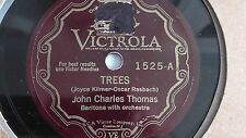 John Charles Thomas– 78rpm 10-inch single – Victrola V.E. #1525