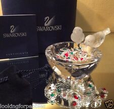 Swarovski Crystal Bird Bath BNIB/COA! #010029 w/ Authentic Jewels and Gem Pouch!