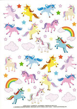 Huge Current Unicorn Rainbow Sticker Sheet Ponies Princess