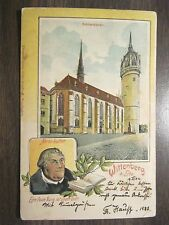 PC0283 Postcard Very early Wittenberg Germany Martin Luther Schlosskirche Church