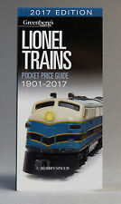 LIONEL TRAINS 2017 POCKET PRICE GUIDE Greenberg's value book O GAUGE 108717 NEW