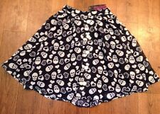 Rockabilly Pinup Breakfast 50's Skirt Swing Rock Steady NWT XS Skull Heart Navy