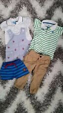 GOODLAD, U.S. POLO ASSN. H&M LOT SET 5 PIECES BABY BOY ONESIE OVERALLS 6-9 MNTH