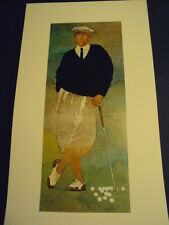 "Bart Forbes golf art print  "" The Golfer "" Vintage Male   SMALLER SIZE PRINT"