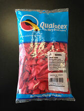 """Qualatex 5"""" Round Red Balloons ~ 100 ct."""