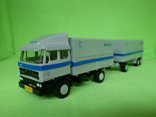 LION CAR 58 + 64  DAF 2800 TRUCK + TRAILER PHILIPS  RARE IN VERY GOOD CONDITION