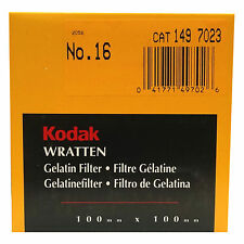 Kodak Wratten Gelatin Filter. 100 x 100 mm. No.16 cat 149 7023