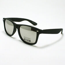 Classic Skater's Sunglasses Mirror Lens Shades for Men & Women MATTE BLACK New