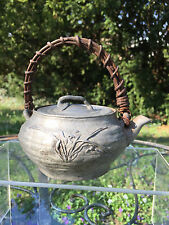 Very Early Antique Asian Chinese Japanese Petwer Tea Pot w Lid  SIX Signatures!
