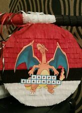 Pokemon Go Charizard Pinata with Sweets & Stick Any Character Can Personalise