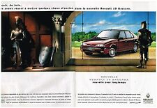 Publicité Advertising 1992 (2 pages) Nouvelle Renault 19 baccara