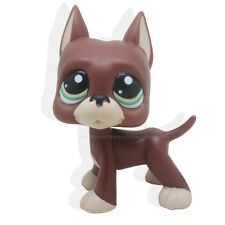Littlest Pet Shop RARE Brown Chocolate Great Dane Dog Puppy Green Eyes LPS #1519