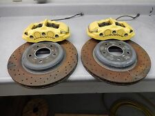 Rear Yellow Brake Caliper Disc Rotor Set OEM 4-Piston PBR C6 Corvette Z06 LS7